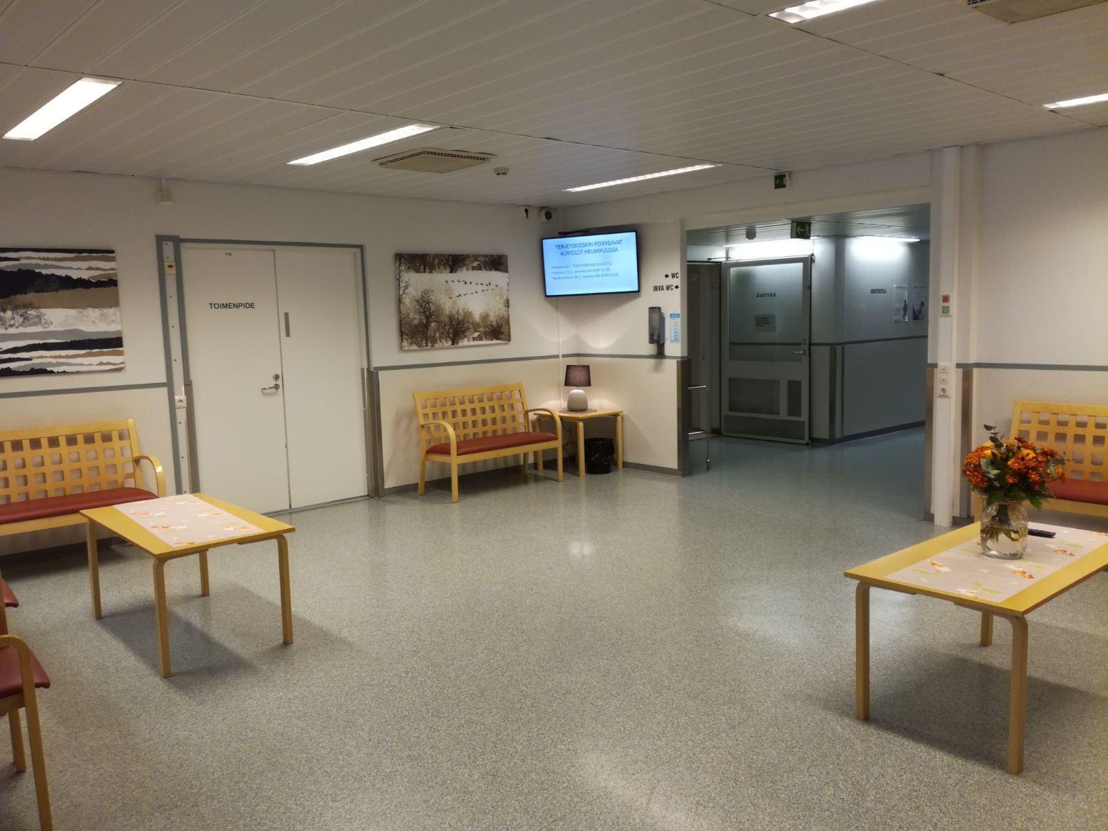 Kiirevastaanoton odotushuoneen kuva