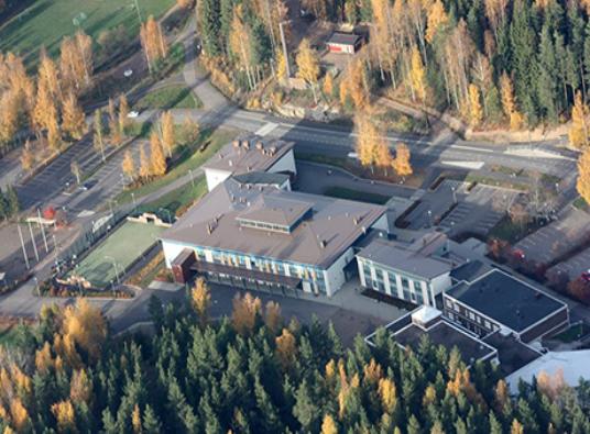 Vehkalahden koulu, ilmakuva
