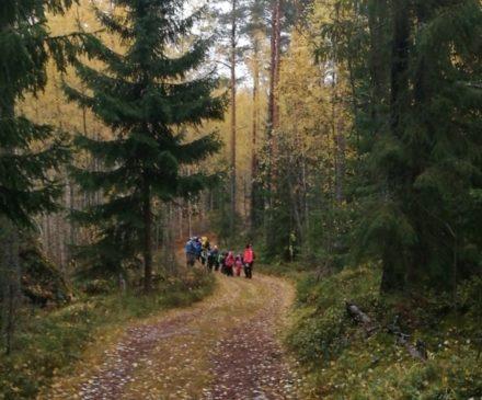Kannusjärven koululaiset metsäretkellä