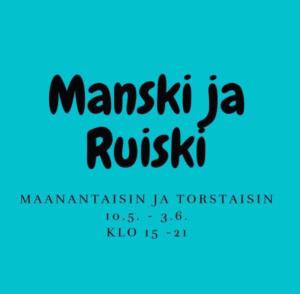 Yhteisötalo Manski ja Ruissalon nuorisotila avoinna maanantaisin ja torstaisin 10.5.-3.6. klo 15-21