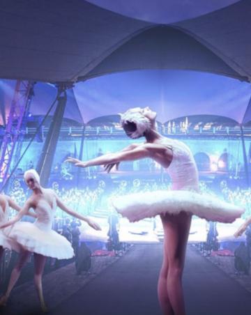 Balettitanssiat Bastionissa.